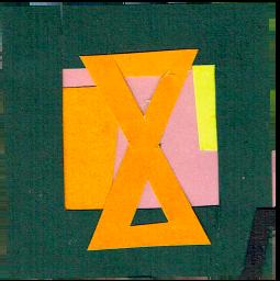 paper collage Extinction Rebellion logo