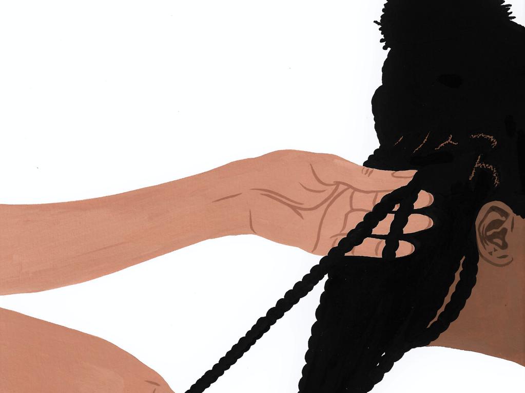 hair being braided